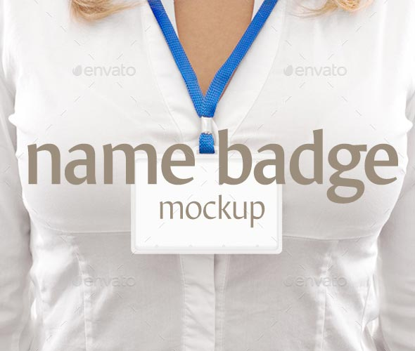 Name Badge Mockup