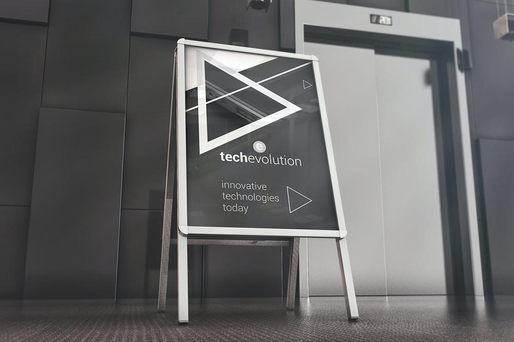 Office Hall Advertising Board Mockup