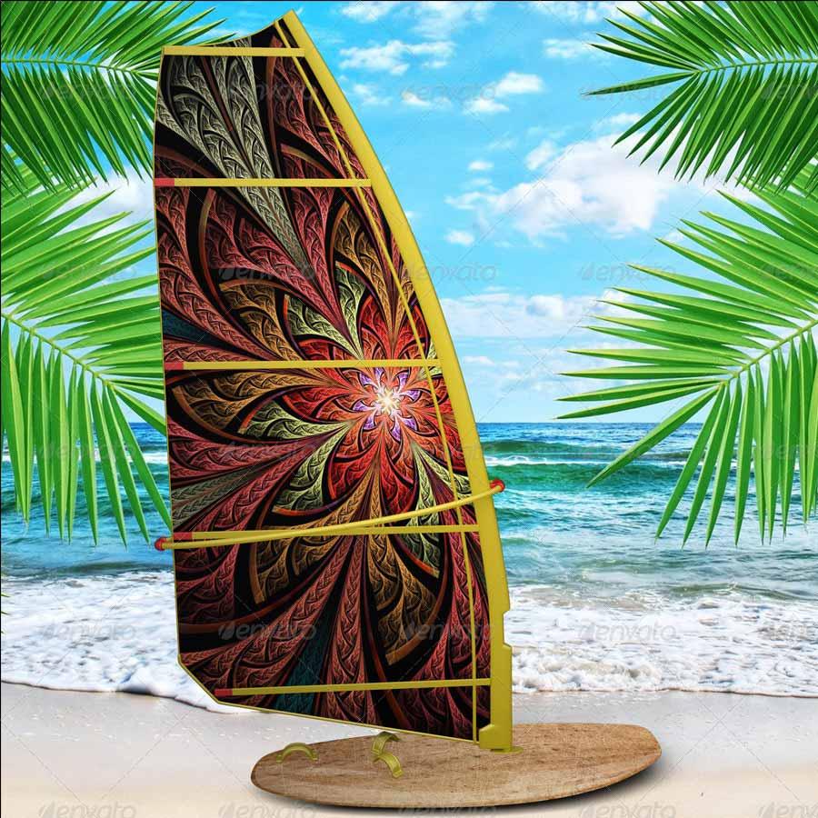 Realistic Windsurf MockUp