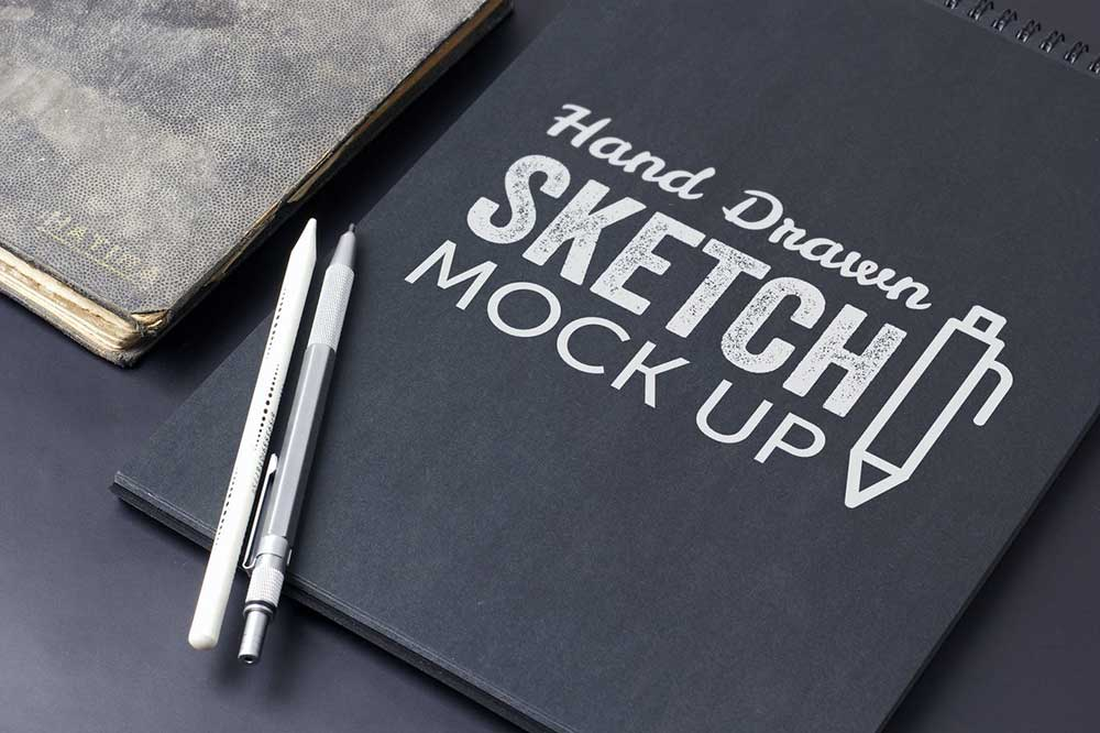 Sketch And Drawing Mockup Template