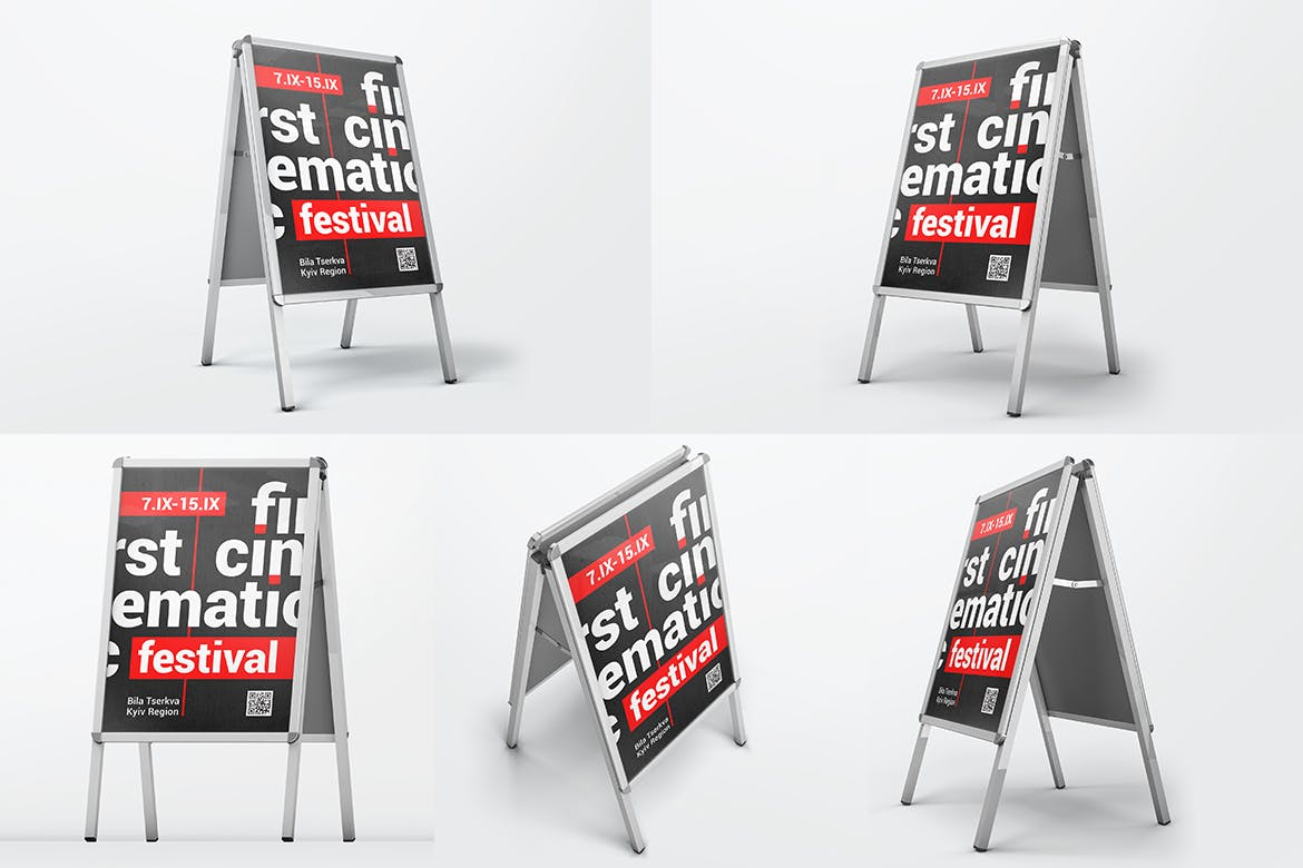 Advertising Stand Board Mockups