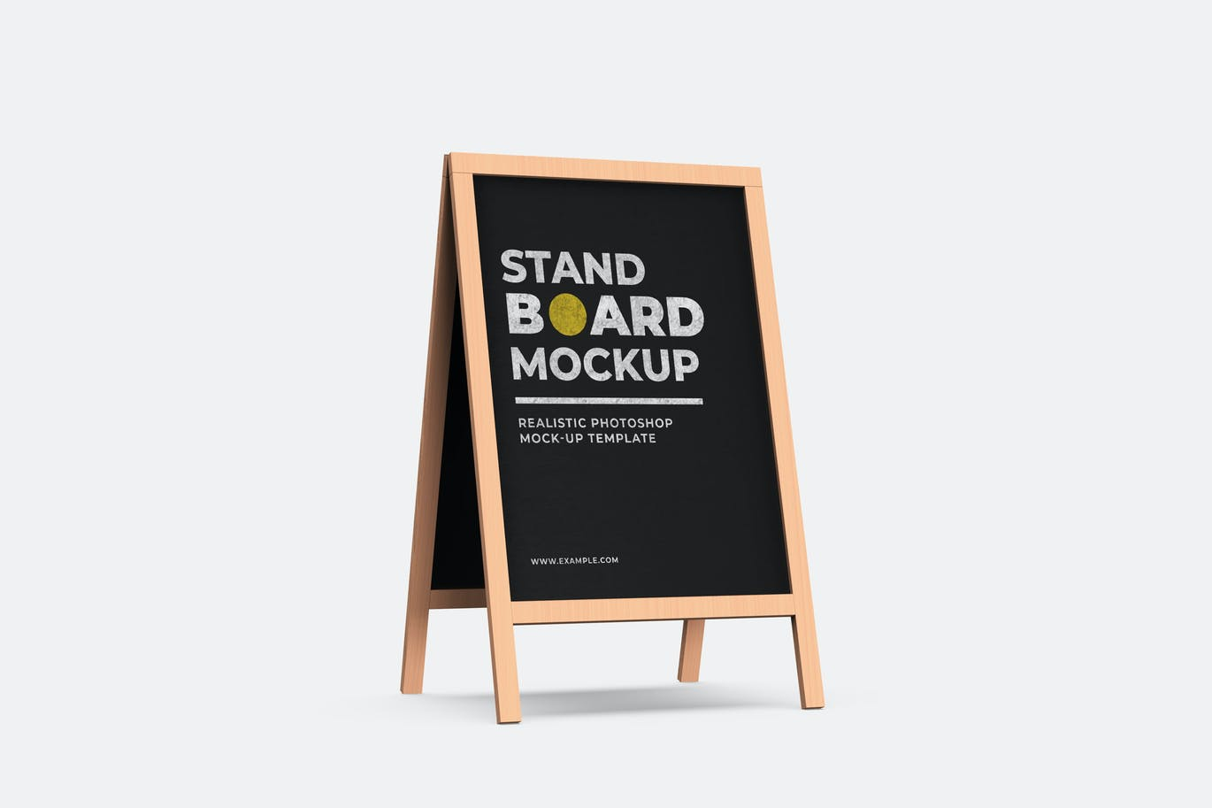 Wood Stand Board Mock-Up Template