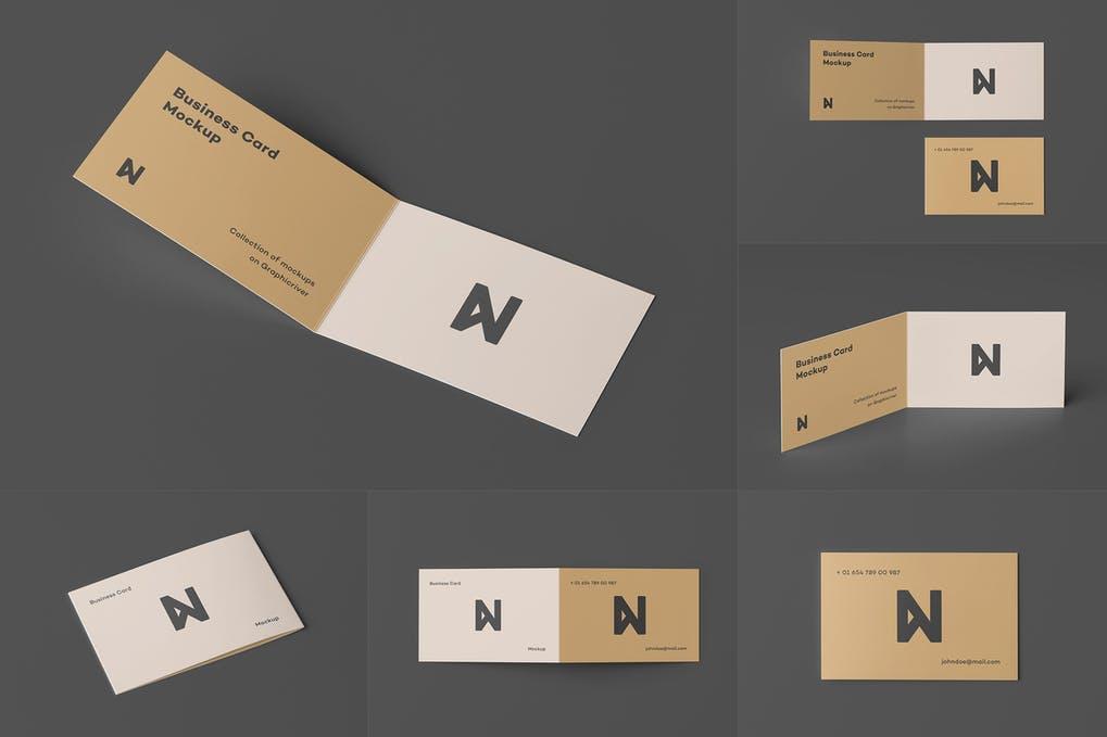 Bi-Fold Business Card Mock-up