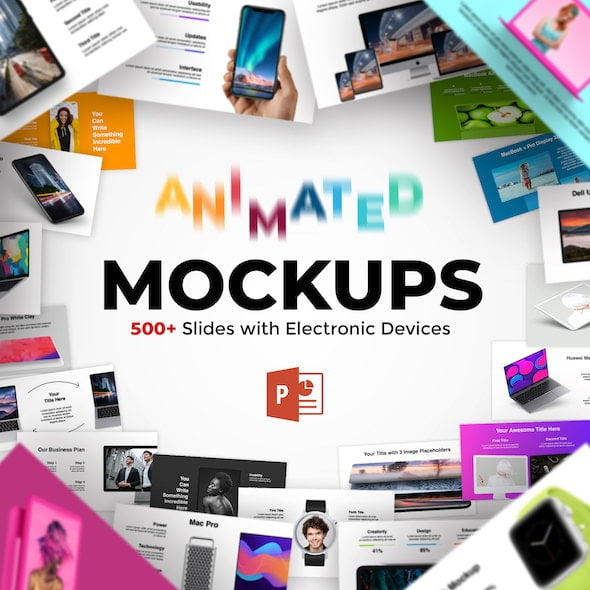 600+ Animated Mockups & Diagrams Infographics PowerPoint Presentation