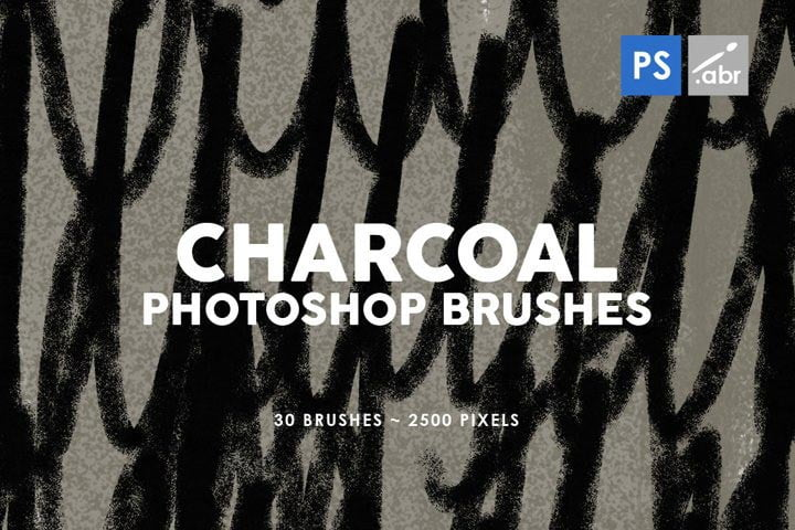 Free Charcoal Textures Brushes