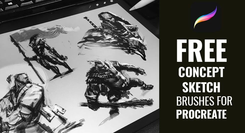 Free Sketching Brushes for Procreate