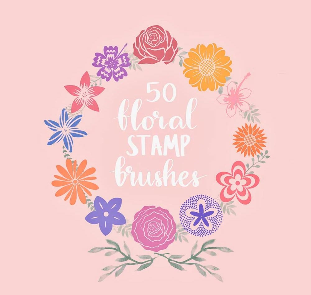 Free Floral Stamp Brushes for Procreate