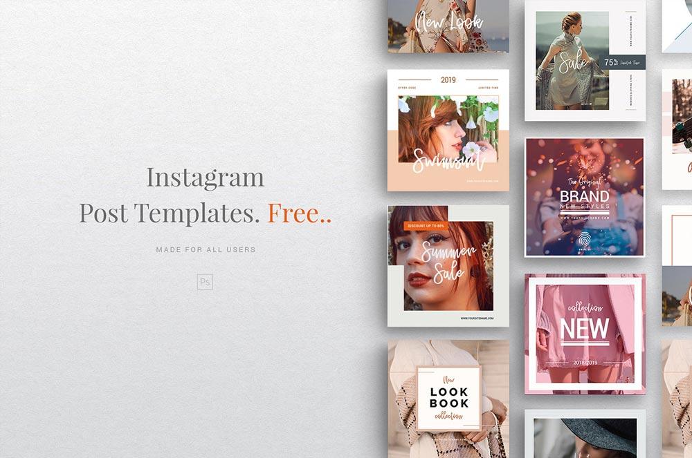 Free Instagram Fashion Template