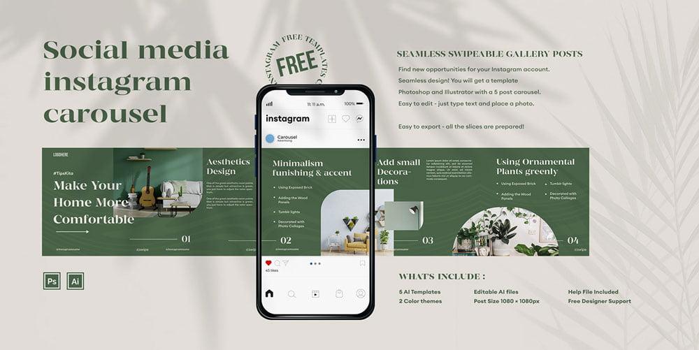 Free Social Media Instagram Carousel