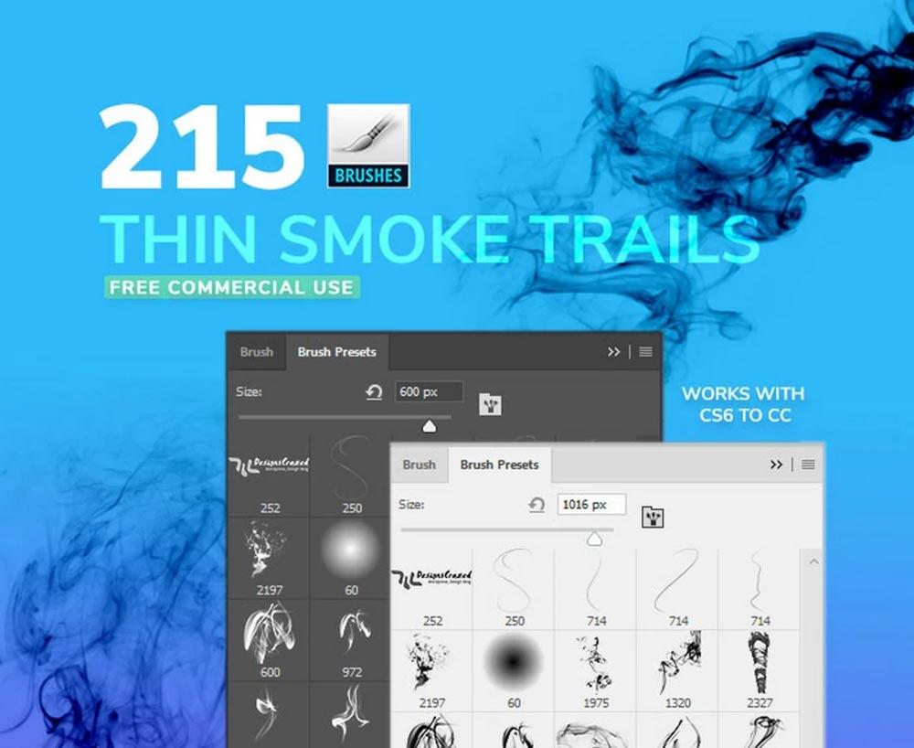 Free Thin Smoke Photoshop Brushe