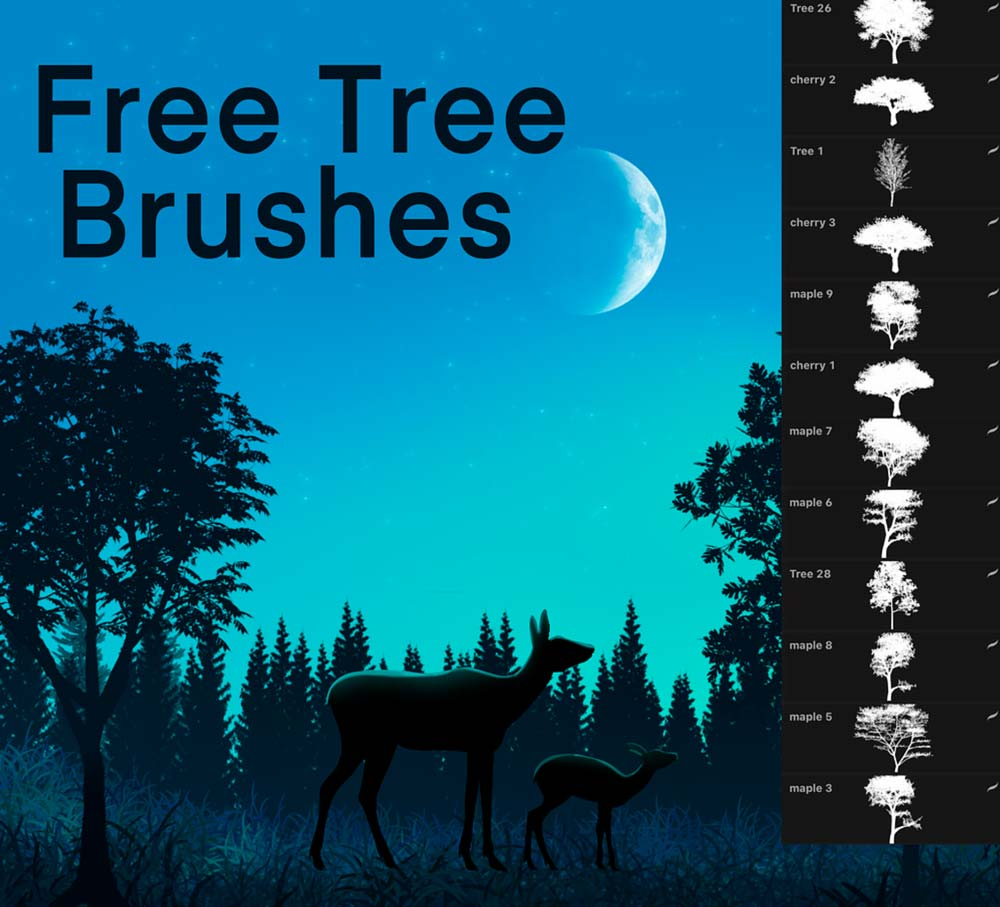 Free Tree Brush For Procreate