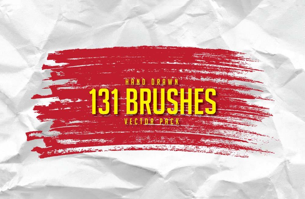 Free Hand Drawn Brushes Pack