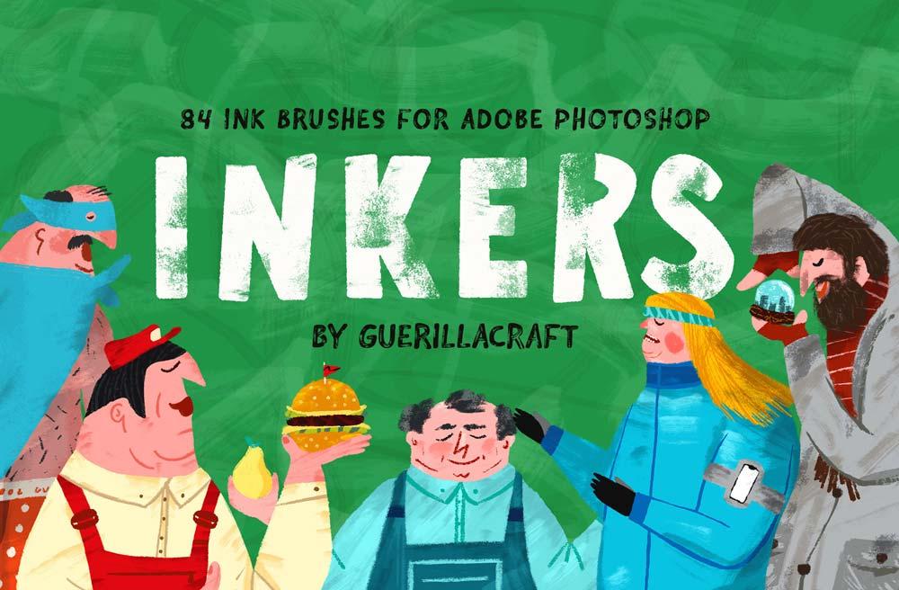 Free Inkers Photoshop Brushes