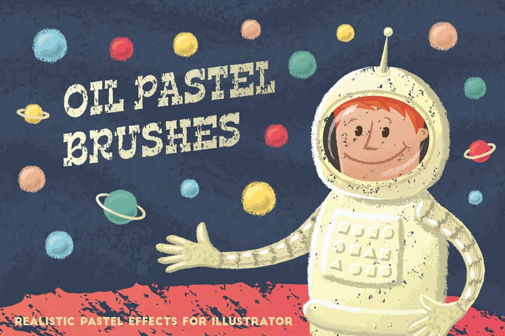 Free Oil Pastel Brushes Pack