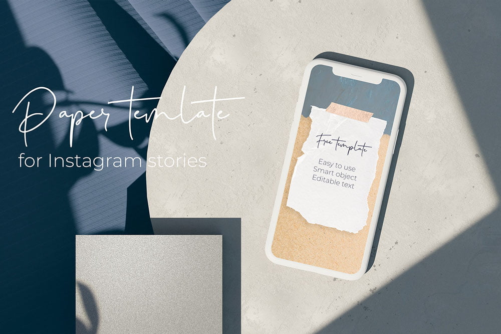 Free Paper Instagram Template
