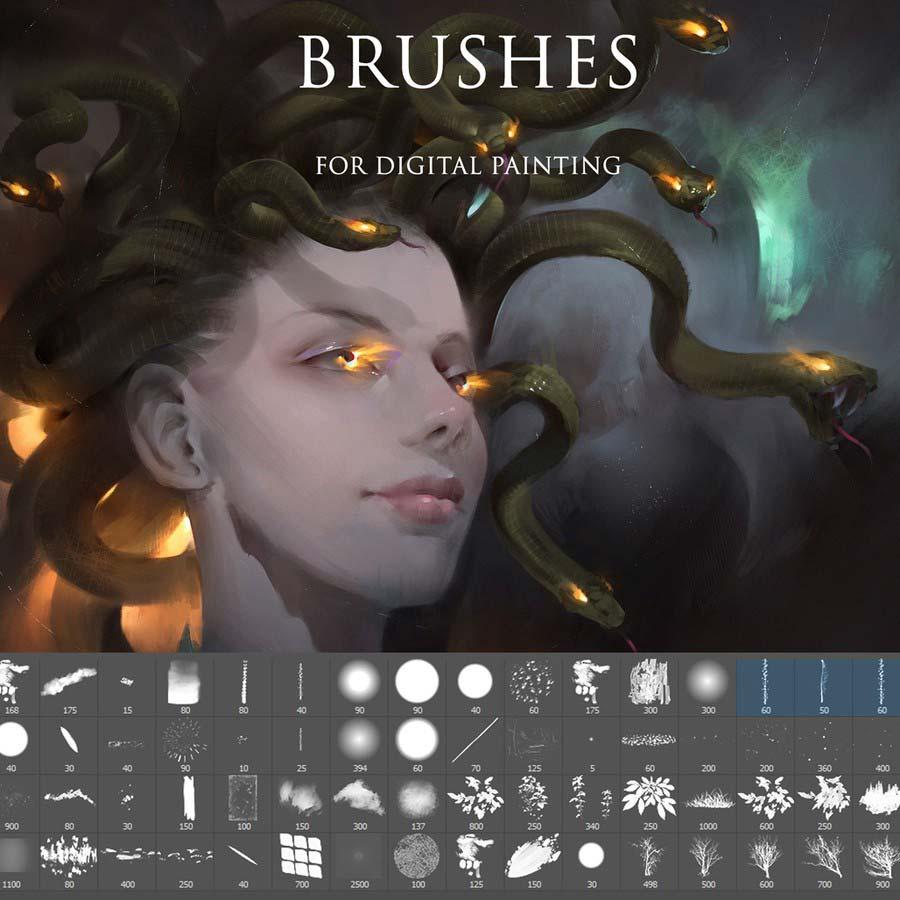 Free Photoshop Brushes for Digital Painting