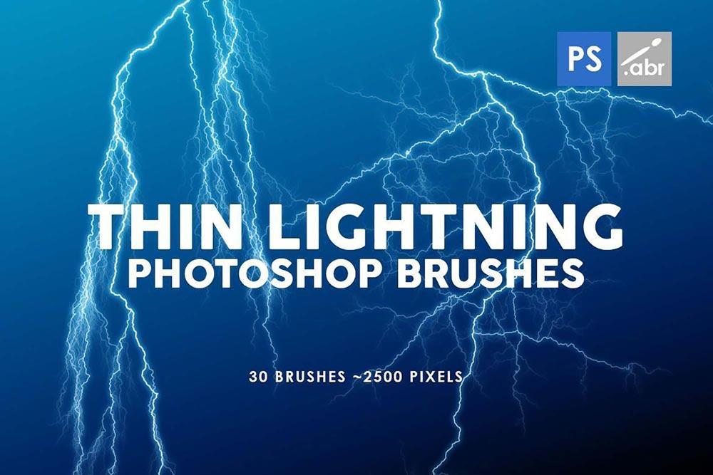 Free Thin Lightning Photoshop Brushes