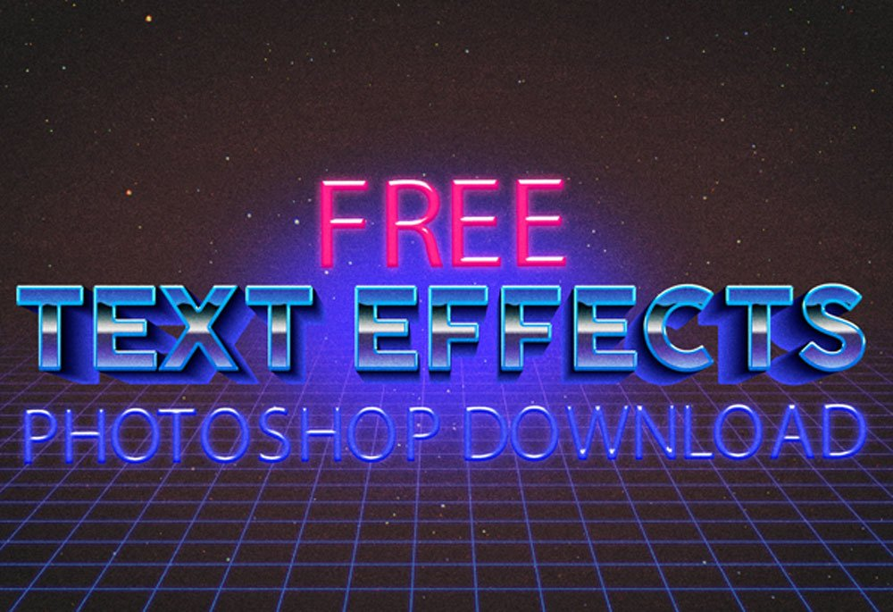Best Free Photoshop Text Effects