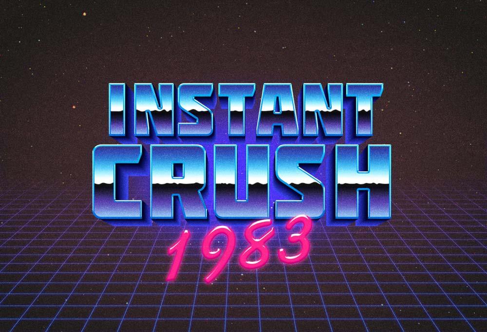 Free 80s Retro Typography Effect