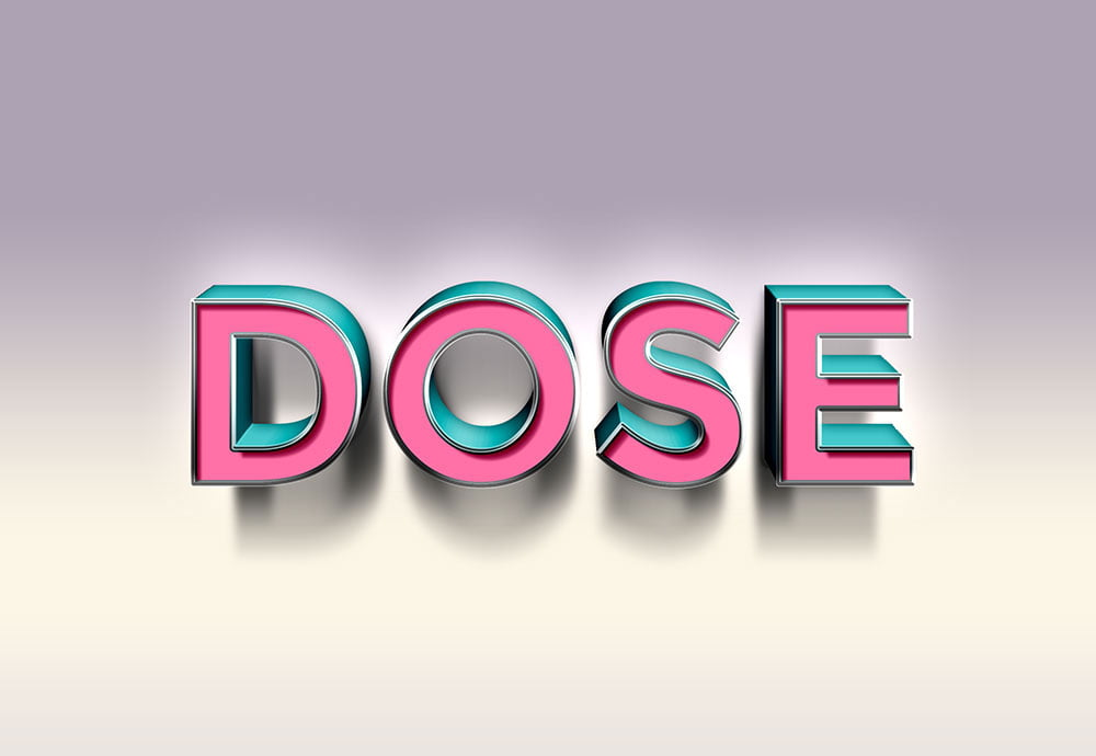 Free Dose Text Effect