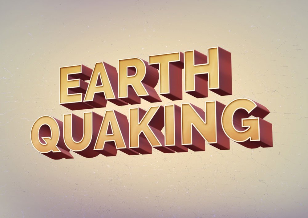 Free Earth Quaking Text Effect