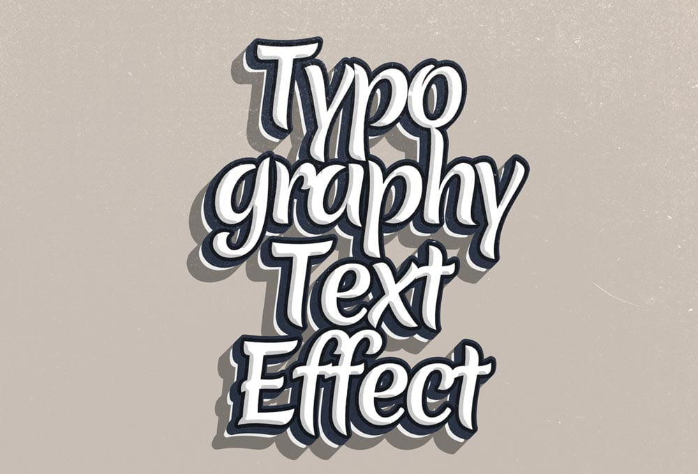 Free Typography PSD Text Effect