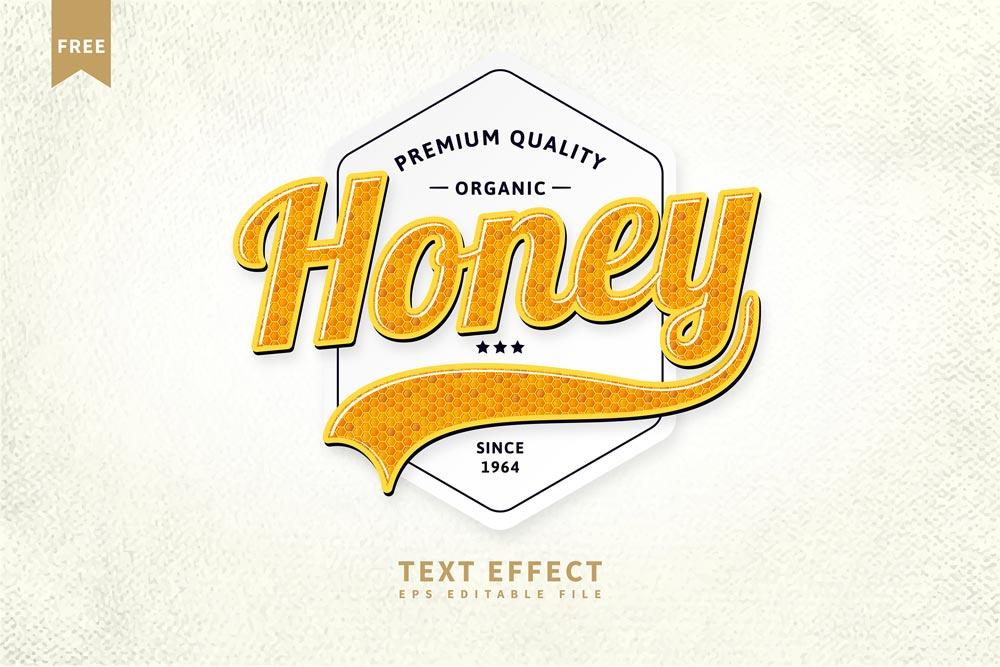 Free Honey Text Effect