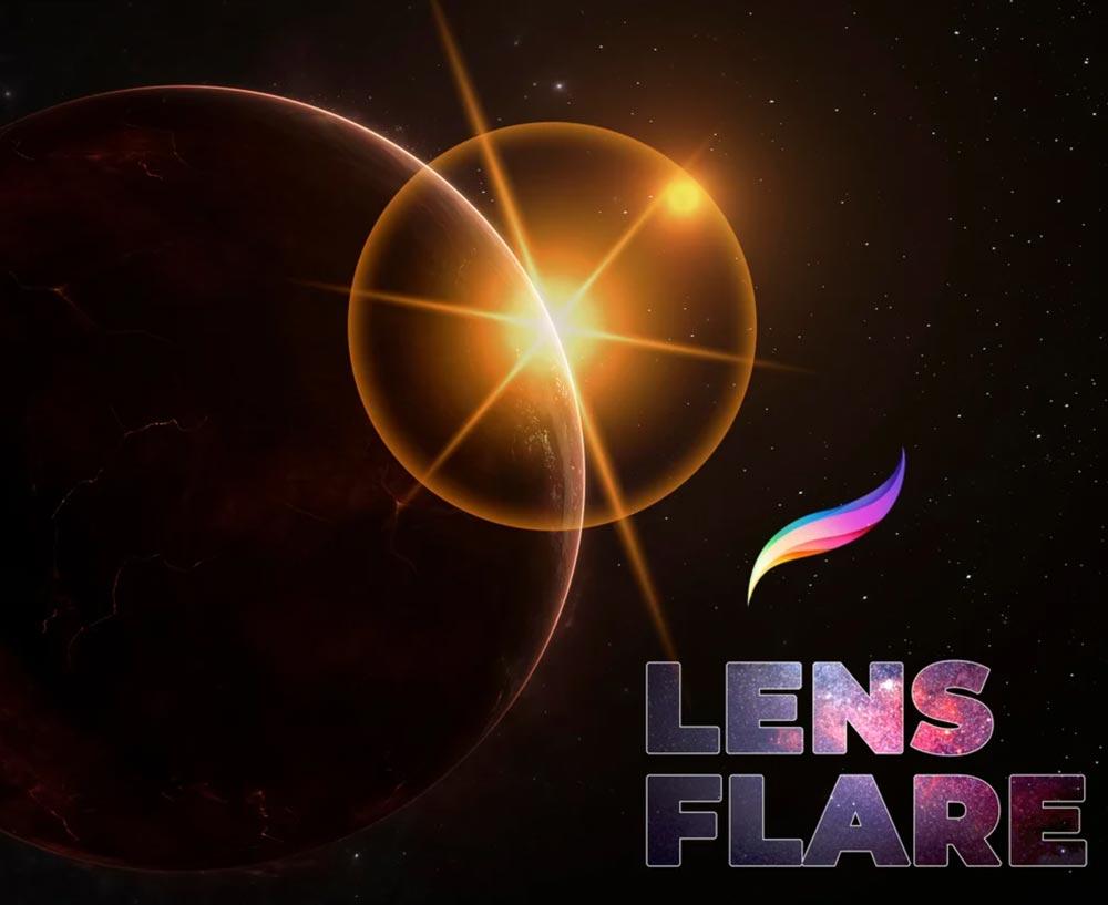 Free Lens Flare Procreate Brushes