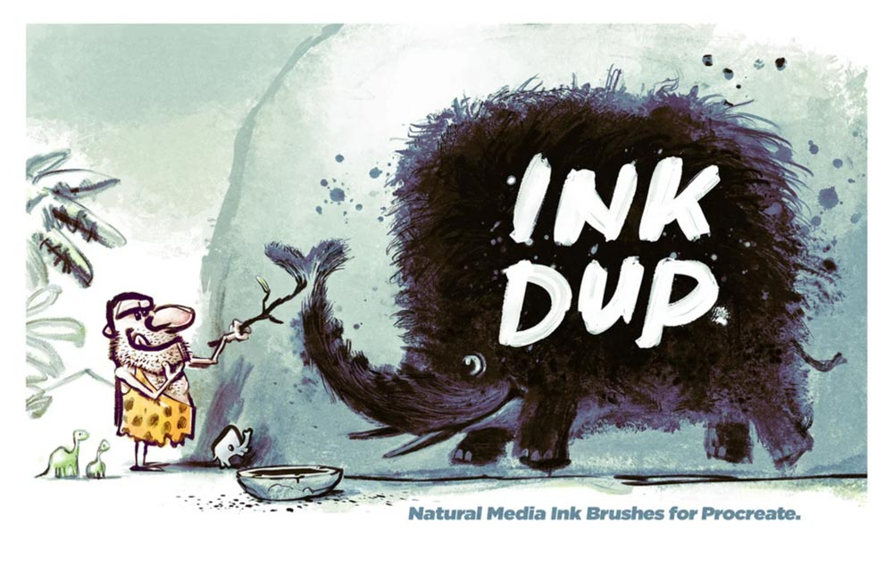 Free Natural Ink Brushes for Procreate