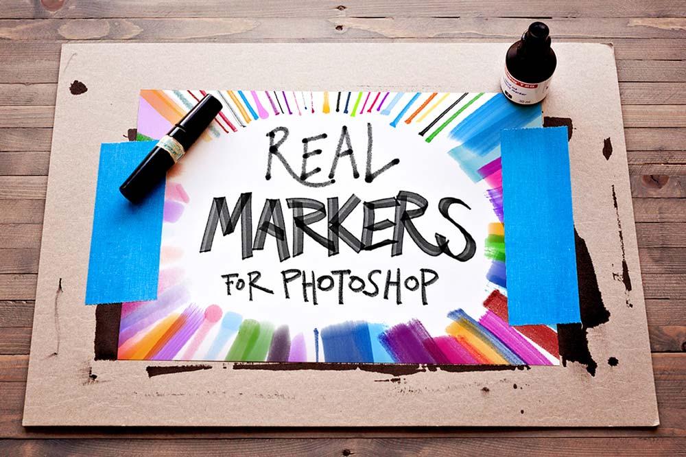 Free Photoshop Markers Brushes