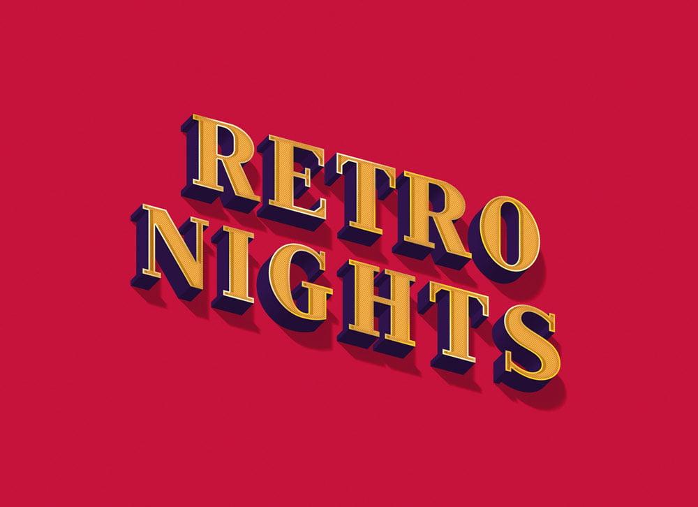 Free Retro Nights Text Effect