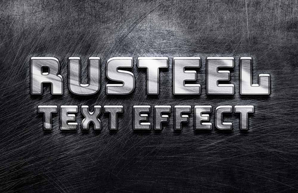 Free Rusteel PSD Text Effect