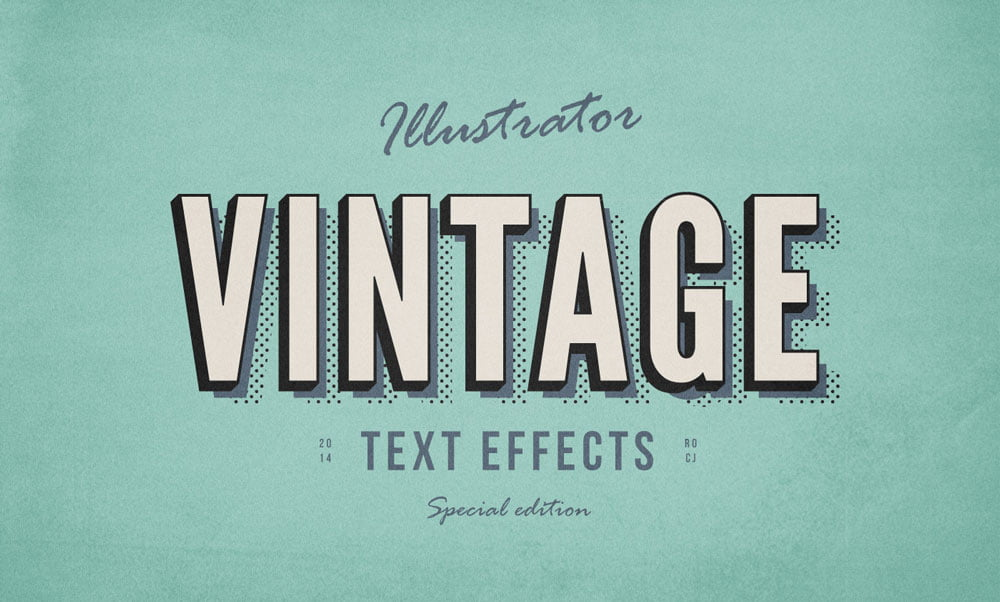 Free Vintage Text Effects
