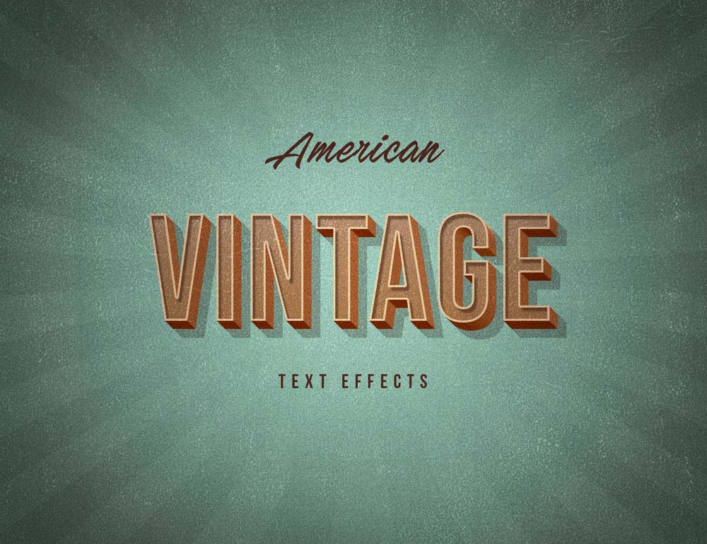 Free American Vintage Text Effects