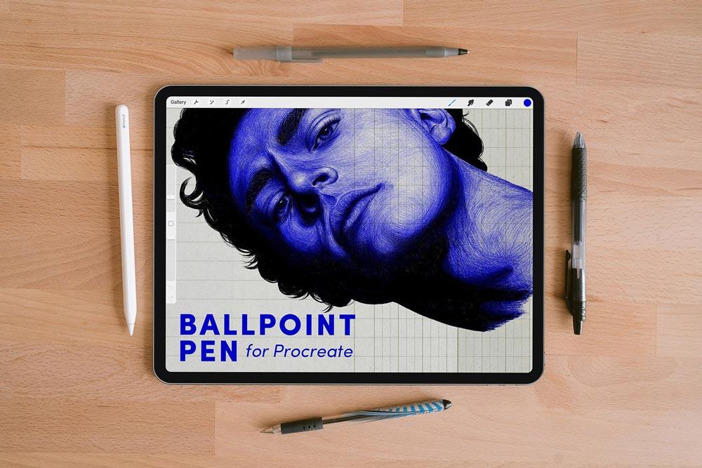 Free Ballpoint Pen Procreate Brushes