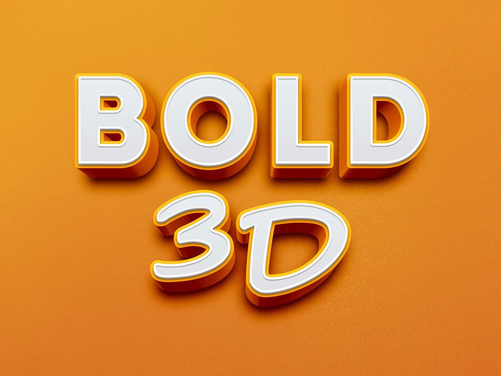 Free Bold 3D Text Effect