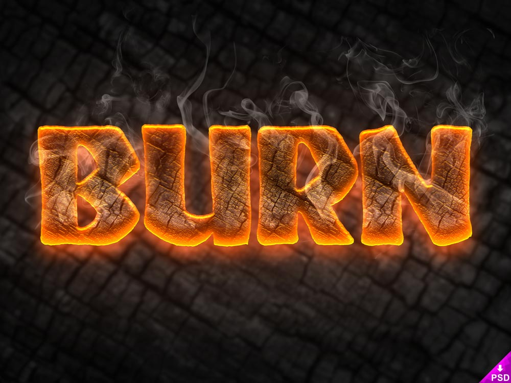 Free Burn Text Style