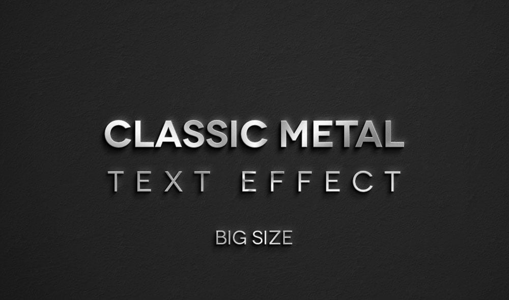 Free Classic Metal Text Effect