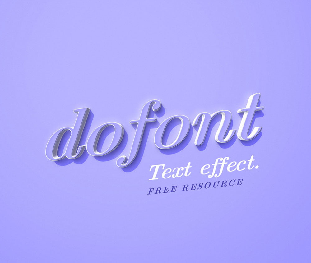 Free Dofont Text Effect