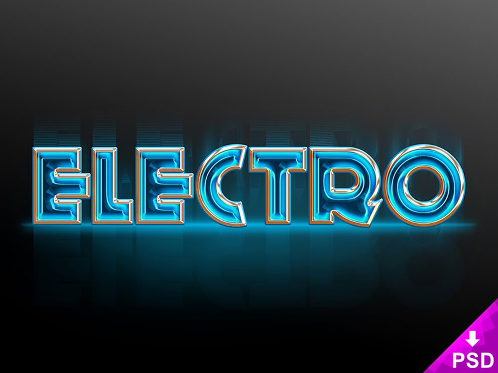Free Electro Text Style