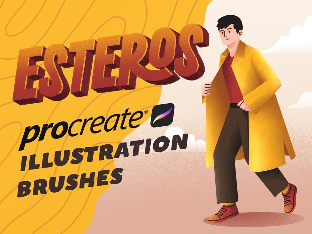 Free Esteros Procreate Brushes
