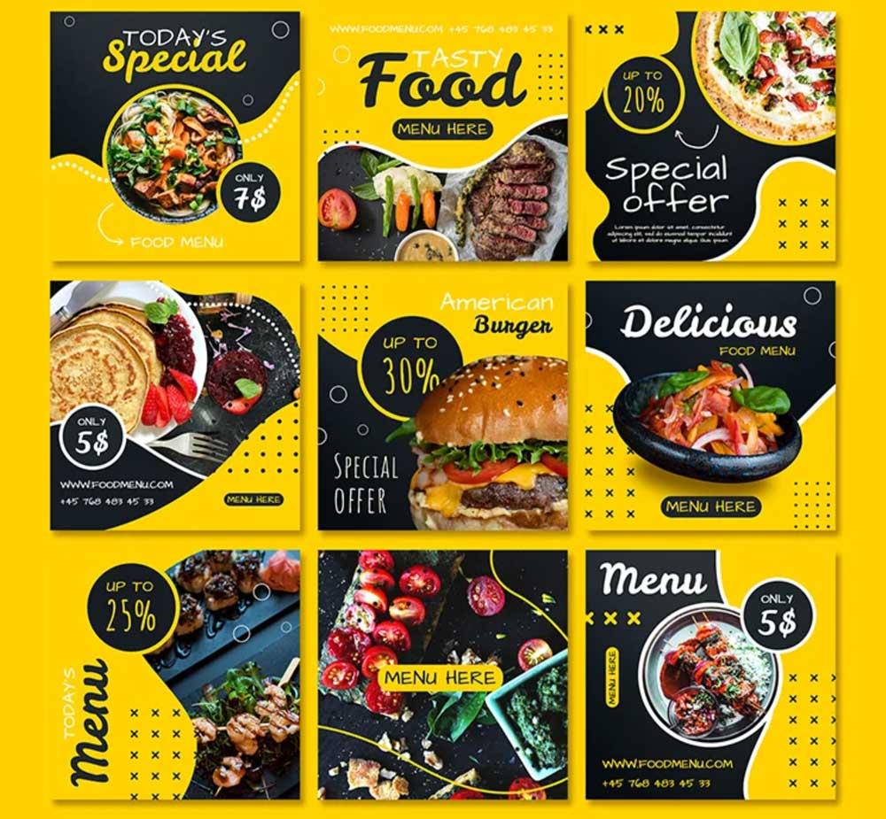 Free Food Instagram Posts Templates