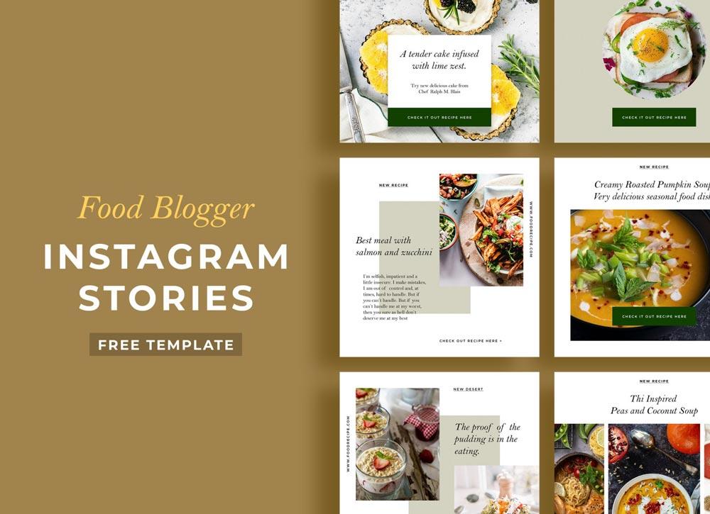 Free Food Instagram Stories Template