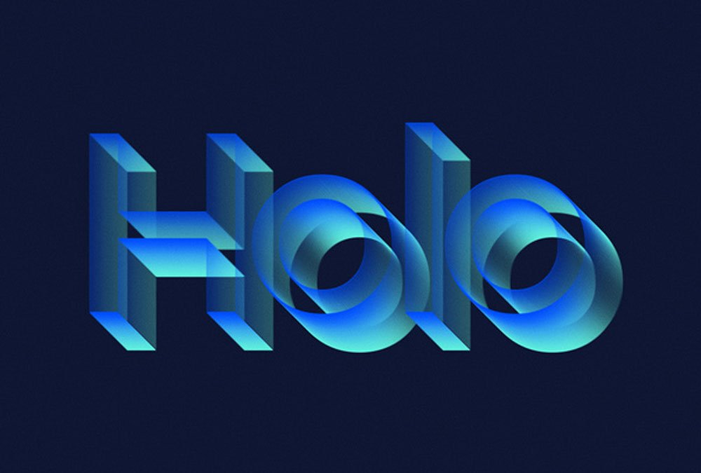Free Holo Text Effect