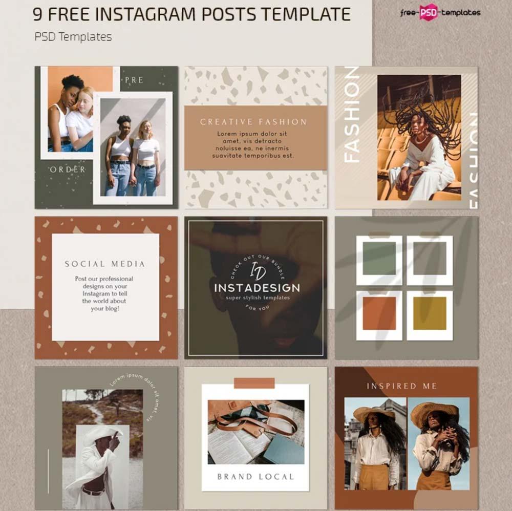 Free Instagram Blog Posts Template