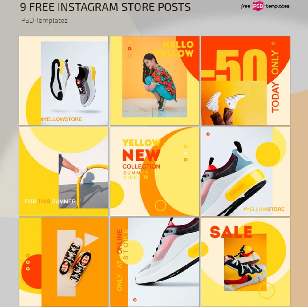 Free Instagram Store Posts Template