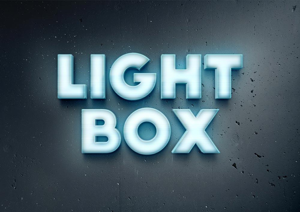 Free Lightbox Text Effect