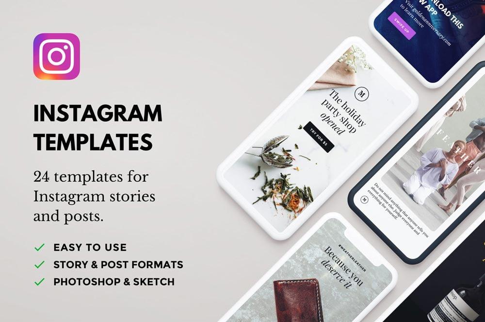 Free Lush Instagram Templates
