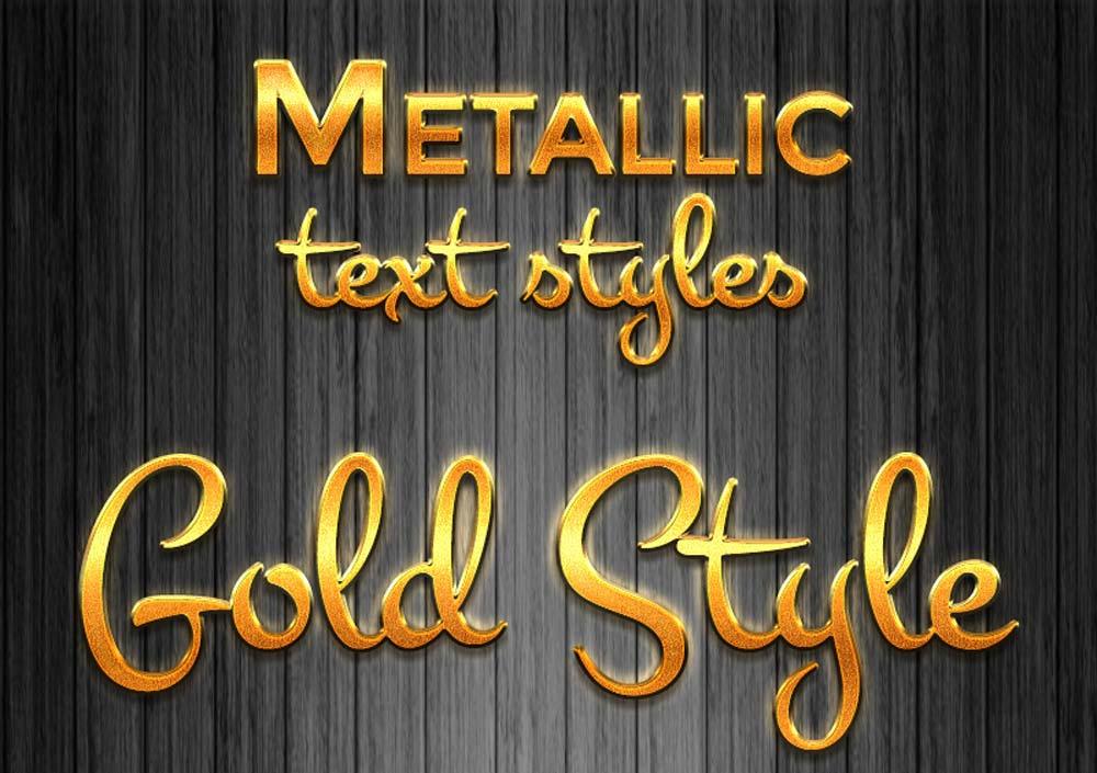 Free Metallic Layer Styles