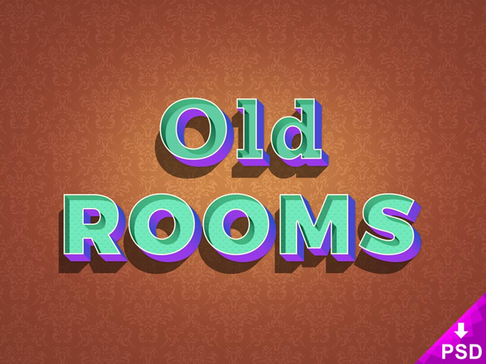 Free Old Rooms Text Effect
